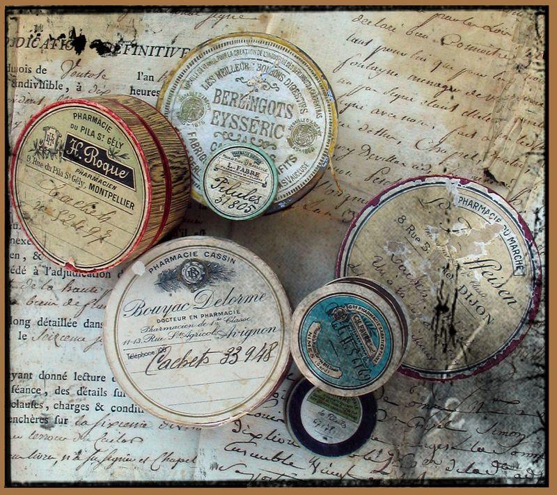Vintage Pharmacy Tins