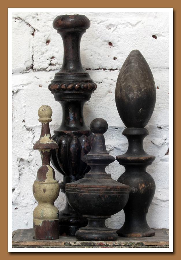 Vintage Wood Finials 1
