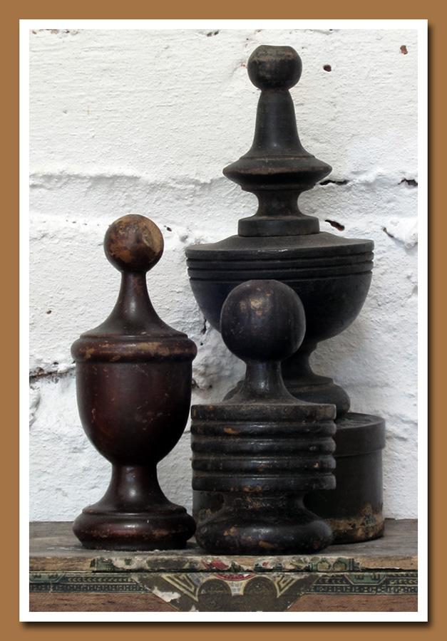 Vintage Wood Finials 2