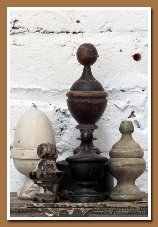 Vintage Wood Finials 3