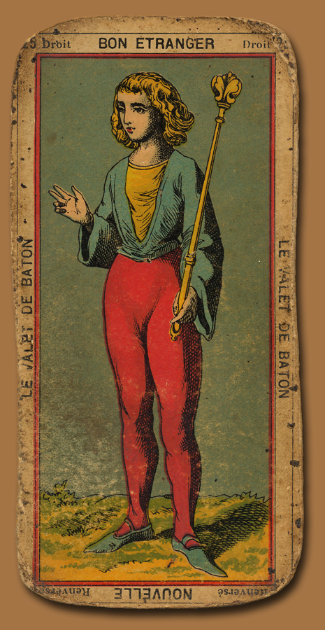 Antique Tarot Card The Fool: La Belle Brocante