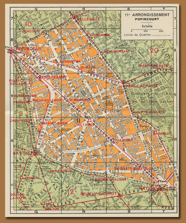 Paris par arrondissement map book