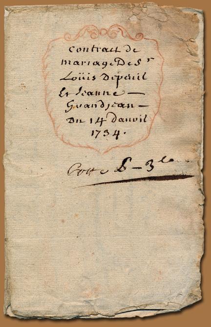 Mariage 1734