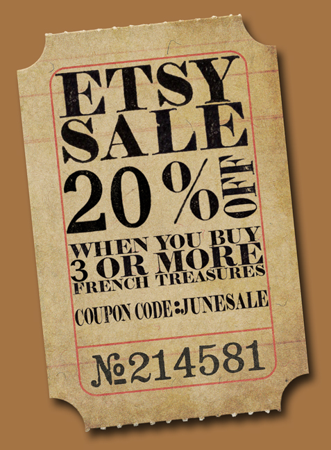 Etsy Coupon June