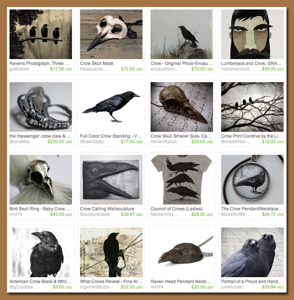 Etsy Treasury Corvid
