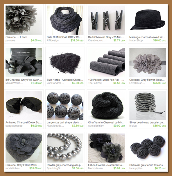 Etsy Treasury Charcoal