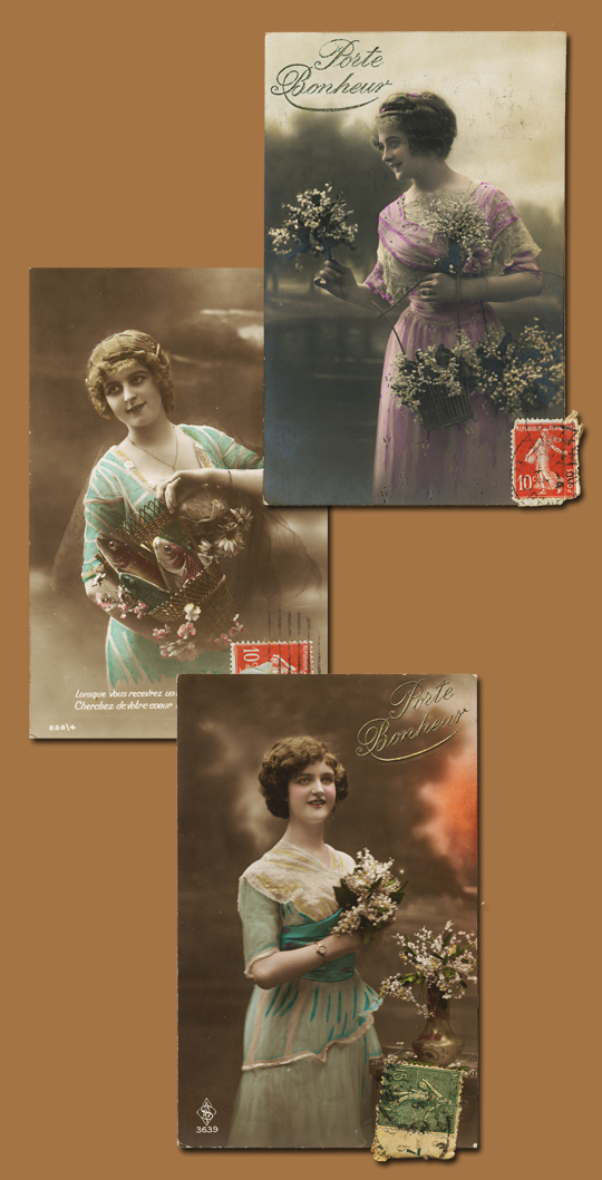 French Fantaisie Postcards